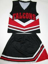 "Child Youth FALCONS Cheerleader Uniform Choose Size Small - XL 24-30"" Tops"