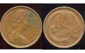 AUSTRALIA  AUSTRALIE  1 cent  1966   ( etat )