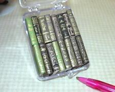 "Miniature Books ""Instant Library"" #1 (16 Titles): DOLLHOUSE 1:12 (Blank) Pages"