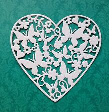Pretty Joy Crafts Butterfly Heart Die Cuts (white)
