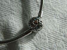 Clogau Silver & Welsh Gold Blue Enamel Bead Charm Bracelet 19cm RRP £139.00