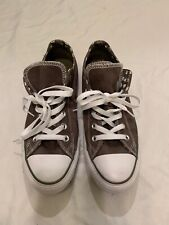all star converce Women's Shoes Gray And White Size 9 K2