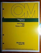 John Deere 205 Gyramor Rotary Cutter Mower Owner Operator Manual Om W21382 F6 76