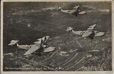 Postcard 1472 - Aircraft/Aviation Real Photo Explorers Royal Air Force