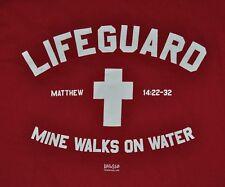 T-SHIRT M MEDIUM GOD CHRISTIAN LIFEGUARD CHRIST SAVED JESUS SHIRT