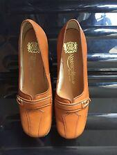 Norvic Alfresco Tan Leather Shoes Unworn Vintage Buckle Slip on