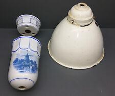 Lampe de train - Plafonnier - Train léger en céramique - Art Déco
