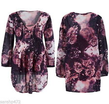 Chiffon Long Sleeve Casual Floral Tops for Women