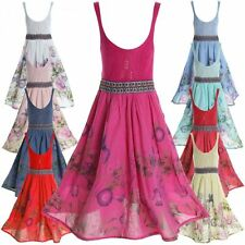 Markenlose ärmellose Mädchenkleider aus 100% Baumwolle für die Freizeit