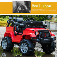 3 Speed 12V Kids Ride On Jeep Indoor/outdoor Electric Remote Control Car Toy Red