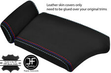 BLACK TOP GRAIN LEATHER M STITCHING ARMREST COVER FOR BMW 5 SERIES E60 E61 03-11