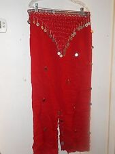 Red Belly Dancing Costume Gybsy New Sexy Dancer 2 Pieces Costumes Moroccan New