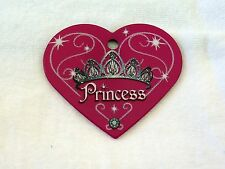 Large Pink Princess Heart Custom Engraved Dog ID tag pet tag  Made in USA