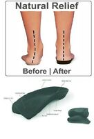 SLIMFLEX SIMPLE RIGID INSOLE ORTHOTIC ARCH SUPPORT AND MEDIAL ARCH SUPPOR PAIR