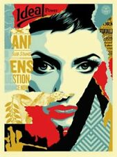 IDEAL POWER OBEY GIANT SHEPARD FAIRY POSTER PRINT SIGNED NUMBERED /450