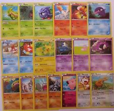 GENERATIONS - Complete Common Pokemon Character Cards Set