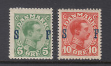 Denmark Sc M1 - M2 Military Stamps Set Mint Hinged