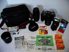 Canon EOS Rebel SII 35mm SLR FILM Camera - Lenses - Filters - LOTS Accessories