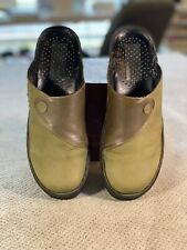 Josef Seibel Green Suede and Leather Mules Clogs Women's size 39