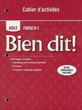 Holt French 1 Bien Dit! Cahier d'activities (2008, Paperback) BRAND NEW