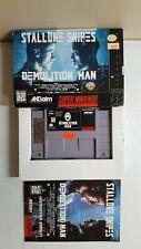 Demolition Man (Super Nintendo, 1995) Complete CIB