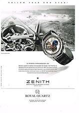 PUBLICITE ADVERTISING 114  2014  ZENITH  montre collection EL PRIMERO CHRONOMAST