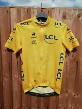 LE TOUR DE FRANCE 2014 LCS YELLOW LEADERS CYCLING JERSEY Large