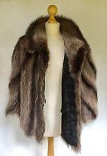 SAGA ROYAL FUR CAPE Brand New WITH TAGS CHIC GLAMOUR Black Silk Lining