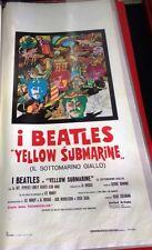 Beatles Yellow Submarine Locandina  italiana 33X70