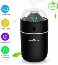 320ML USB Humidifier,Ultrasonic Cool Mist Humidifier with 7 Colorful Night Light
