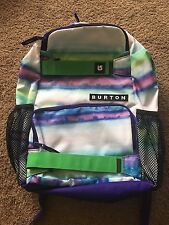 New without Tags Burton Laptop Backpack Blue Green Purple