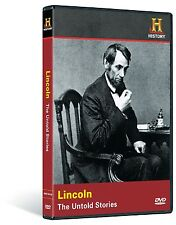 LINCOLN: THE UNTOLD STORIES (HISTORY CHANNEL) NEW AND SEALED