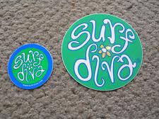 surf diva surf shop ca surfboard surfing sticker decal longboard surfer girl lot