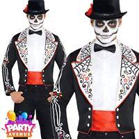 Day of the Dead Mens Tailcoat Halloween Costume Skeleton Fancy Dress
