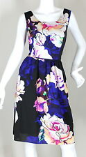 ADRIANA PAPELL DRESS BLOUSON MULTI-COLOR ROSE DRESSY WEAR TO WORK SIZE (16)
