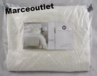Hotel Collection Trousseau 100% Cotton FULL / QUEEN Duvet Cover Ivory