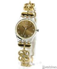 New Swatch Originals Women COUP DE FLEUR Steel Gold Watch 25mm LK360G $85