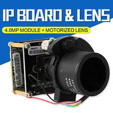 H.265 4MP IP Camera Module 4X Auto Zoom Varifocal Auto Iris Lens HI3516D+OV4689