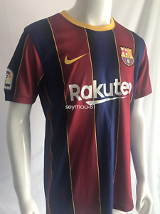 #10 Messi Barcelona FC 2020-2021 La Liga Home Football Jersey Men's Soccer Shirt
