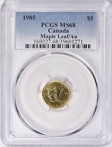 PCGS Superb Gem💎🍁 1985 Canada 1/10 oz. Gold Maple Leaf MS 68  .9999 Fine Gold