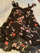 Evans size 26 black floral chiffon party dress wedding races BNWT £55 new