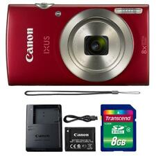 Canon IXUS 185 / ELPH 180 20MP Digital Camera Red and 8GB Memory Card
