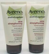 2* Aveeno Skin Strengthening hand cream 2.7oz dry fragile skin restores 24 hours