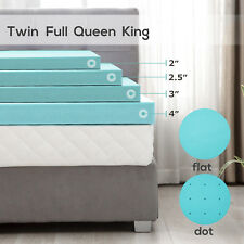 2/2.5/3/4'' Comfort Gel Memory Foam Mattress Cover Topper Twin Full Queen King