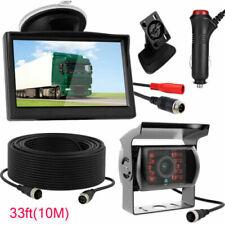 "Car 5"" Monitor+ 4 Pin Reversing Rear View Camera Kit For RV Truck Bus Caravan RV"