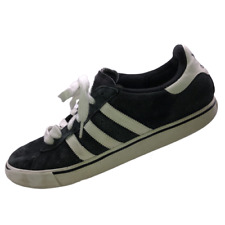 Adidas Men Size 11 Black White Suede Skateboarding Shoes Lace Up Skater Sneakers