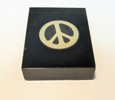 VINTAGE PEACE SIGN IN ACRYLIC BLOCK 1960'S ANTI-WAR BY JUNIOR ACHIEVEMENT CO.
