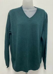 """NEW! M&S Marks & Spencer Large Chest 41-43"""" pine green 100% lambswool jumper"""