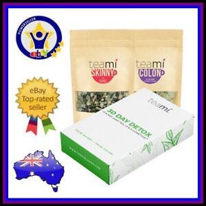 TEAMI 30 DAY DETOX Skinny Tea Loose Leaf & Colon Cleanse Tea Bags Fat Burner