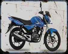 Bajaj Discover 100M 14 01 A4 Metal Sign moto antigua añejada De